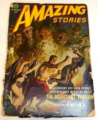 Amazing Stories – US pulp – January 1952 - Vol.26 No.1 - Miller, Lesser