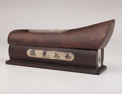 Wood Cattle Bone Hand-Carved Drawing Coffins Gold Bar Box Collectable