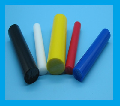 Acetal Rod WHITE BLACK BLUE Natural POM-C Round Bar Plastic Billet 500mm 1000mm