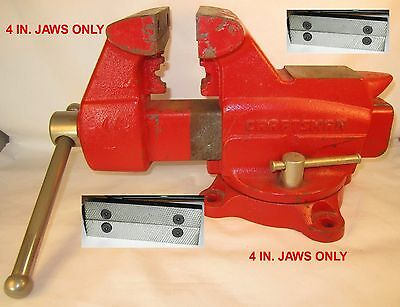 "Craftsman/columbian Vise Jaws/. 4"" Usa Made Vises, D44M3 """"""""jaws Only"""""""""