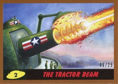 Mars Attacks The Revenge Bronze [25] Base Card #2 The Tractor Beam