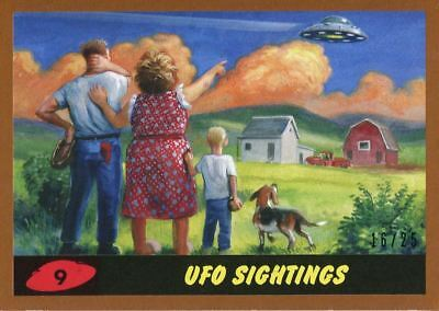 Mars Attacks The Revenge Bronze [25] Base Card #9 UFO Sightings