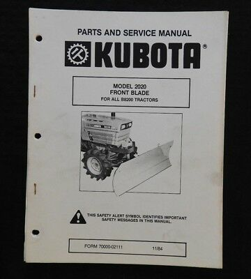 genuine kubota 9200 b9200 tractor owners operators manual very good rh picclick com kubota b8200 service manual download 9200 Tractor