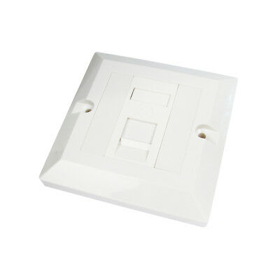 RJ45 Face Plate Wall Socket Cat6 Ethernet Single Gang 1 Port with Keystones