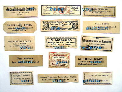 Violin Labels Old copies for the decoration of music shops(set 1101)