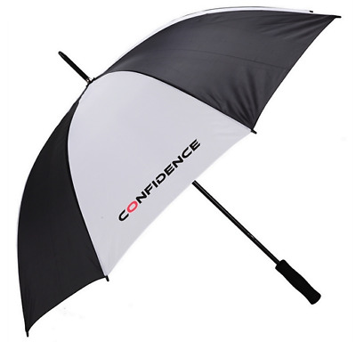 "New Confidence 54"" Golf Umbrella - Black & White"