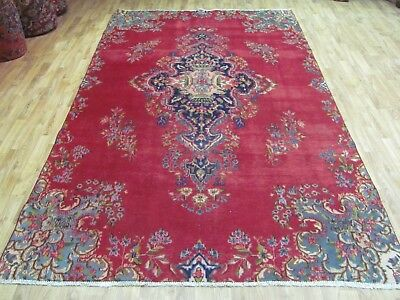 A NICE OLD HANDMADE PART OF A KERMEN PERSIAN RUG (301 x 172 cm)