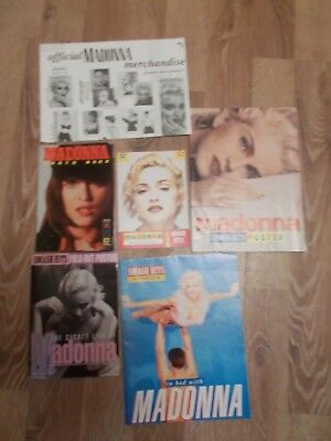 Madonna Lot Of Fold Out Posters Photo Book Ect