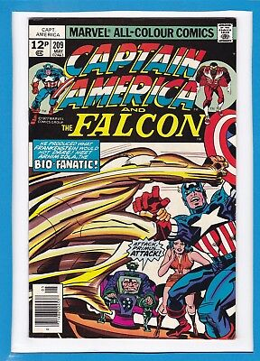Captain America & The Falcon #209_May 1977_Very Fine+_Bronze Age_Jack Kirby_Uk!