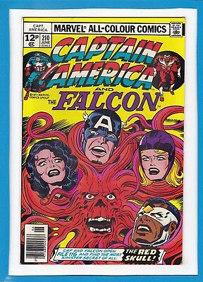 Captain America & The Falcon #210_June 1977_Vf Minus_Red Skull_Jack Kirby_Uk!