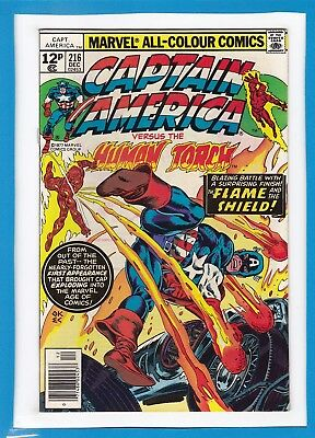 Captain America & The Falcon #216_December 1977_Near Mint Minus_Human Torch_Uk!