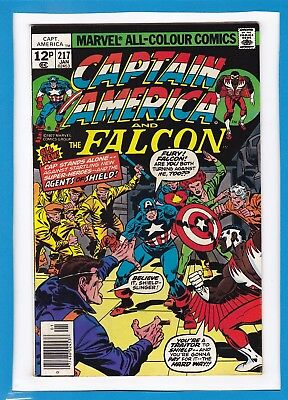 Captain America & The Falcon #217_Jan 1978_Vf_Nick Fury_Agents Of Shield_Uk!