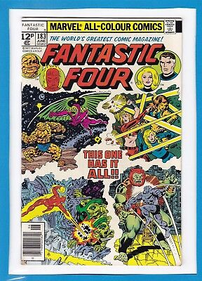 Fantastic Four #183_June 1977_Very Good Minus_Annihilus_Bronze Age Marvel_Uk!