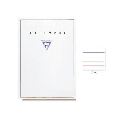 """Clairefontaine """"Triomphe"""" Stationery Tablet, Lined, A5 (5.75"""" x 8.25"""")"""