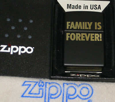 ZIPPO  FAMILY IS FOREVER Lighter PLAIN AND SIMPLE New  MINT In BOX