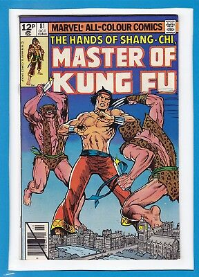 The Hands Of Shang-Chi, Master Of Kung-Fu #81_October 1979_Vf Minus_Uk Variant!