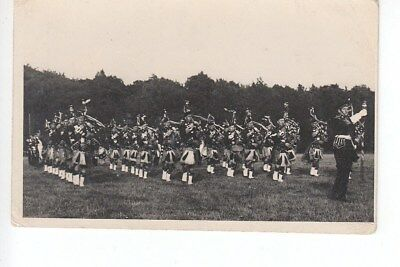 Military Pipe Band on parade at Volunteer Park, Hawick, Roxburghshire