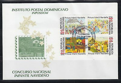 Dominican Republic 2009  Christmas Art Sc 1471  First Day Cover