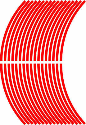 x4 5mm wheel rim tape striping stripes stickers RED..(38 pieces/9 per wheel)