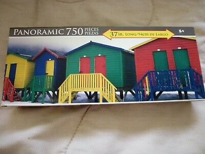 New Fish Hoek Huts Cape Town South Africa 750 Piece Jigsaw Puzzle 2011 Panoramic