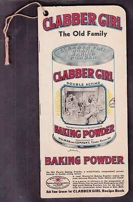 "US 1920's Clabber Girl Baking Powder ""Want Book"" Advertising GREAT COLOR!"