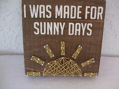Nwt  i Was Made For Sunny Days  Decorative Nail Art Wall Plaque $35.99 & NAIL ART FLORAL Wall Plaque Flowers in Pink Vase on Wood Folk Art ...