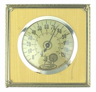 Vintage Cooper Co. Thermometer  w/ A Spinning Wheel design