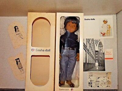 VINTAGE NRFB Brunette SASHA GREGOR Doll 301 DARK DENIMS Made in England!
