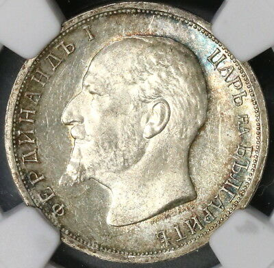 1913 NGC MS 63 BULGARIA SIlver 1 Lev Coin (16012403D)