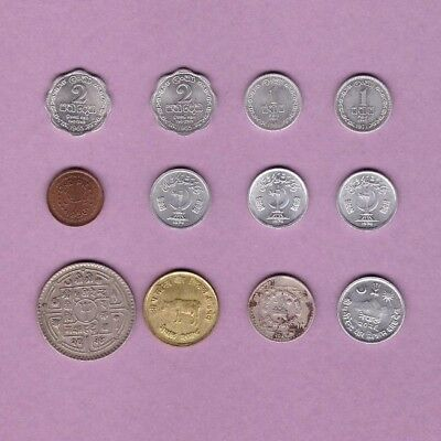 Pakistan, Nepal & Ceylon - Coin Collection Lot - World/Foreign/Asia