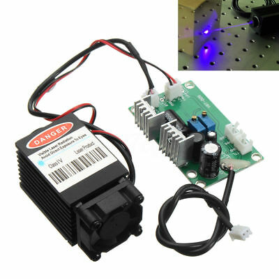 2500mW 1.6W 450nm Focusable High Power Blue Laser Module w/ TTL 12V Wood Carving