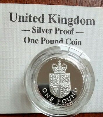"""1988- Great Britain 1"""" Silver"""" Pound Coin"""