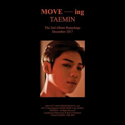 TAEMIN SHINee - MOVE-ing (Vol.2 Repackage) CD+Booklet+Poster+Free Gift