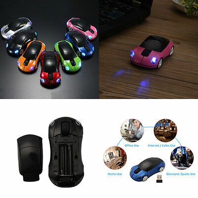 New 2.4GHz 3D Car Shape Wireless Optical Mouse Mice For Laptop PC USB Receiver