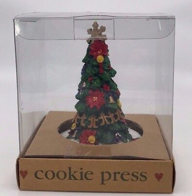 "Wilton Shaker Hearth 1997 3"" Cookie Press Cutter Christmas Tree NEW"