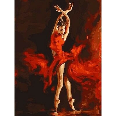 Fire Dancer Frameless DIY Oil Painting Digital Paint By Numbers Kit Wall Decor