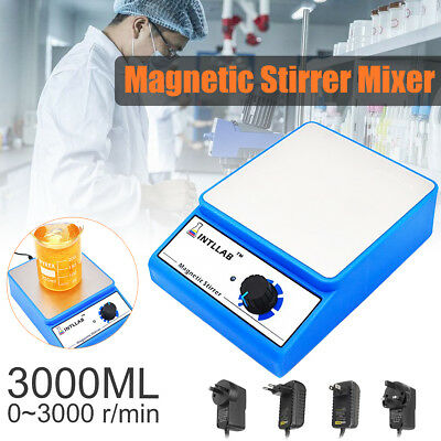 Magnetic Stirrer Home Laboratory Lab Mixer W/3000rpm AC 100-240V EU/US/UK Plug