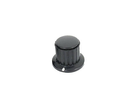 1 Pcs Black Ribbed Grip 4mm Split Shaft Potentiometer Control Knobs