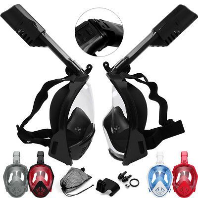 UGI Swimming Diving Collapsible Full Face Snorkel Dry Mask Gift Water Sports Lot