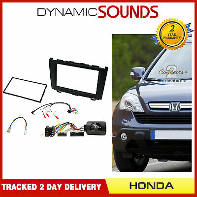 CTKHD04 Black Double Din Stereo Fascia Fitting Kit For Honda CR-V 2007 - 2009