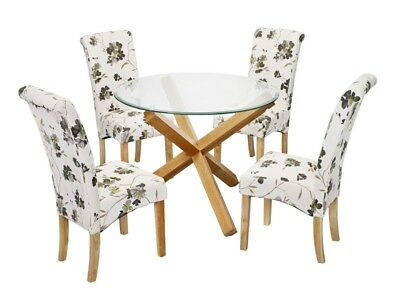 LPD Oporto Round Glass Top Dining Tables & Chairs - 2 Tables & 18 Chair Options