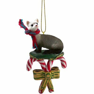 FERRET Candy Cane Christmas Tree ORNAMENT