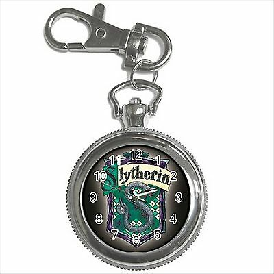 NEW HARRY POTTER SLYTHERIN HOGWARTS SCHOOL Silver Color Key Chain Ring Watch