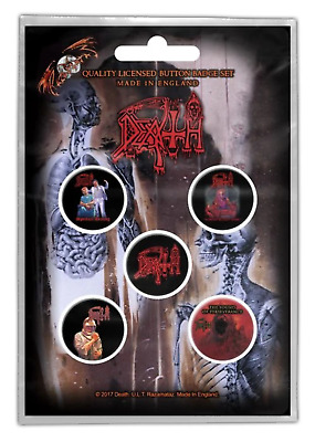 Death - 5 x 2.5cm Button Set - Albums
