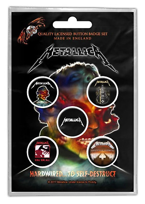 Metallica - 5 x 2.5cm Button Set - Hardwired