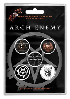 Arch Enemy - 5 x 2.5cm Button Set - Will To Power