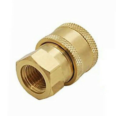 Pressure Washer Quick Release Socket 15mm to 3/8 Female Brass Connector
