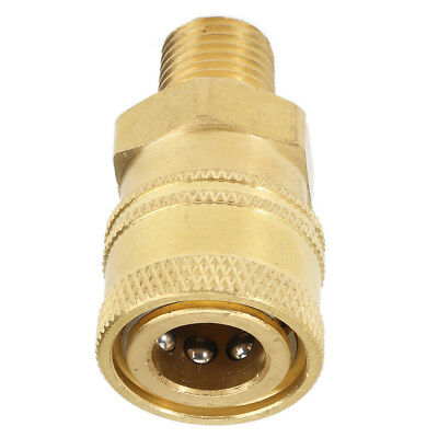 1PC Quick Release Adapter 12mm To 1/4'' Male Pressure Washer Connector