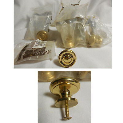 NEW Set of 5 BELWITH Solid Brass P9742 Drawer Pull Door Cabinet Knob 1 1/2""