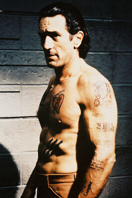 Robert De Niro As Max Cady In Cape Fear In Policecell Bare Chest 24X36 Poster